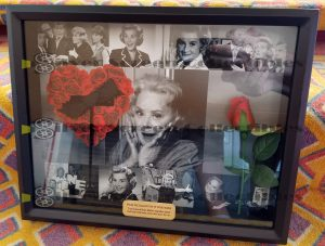 Rose Marie Signature Hair Bow framed display.