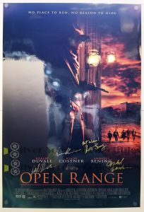 SIGNED One Sheet Movie Poster from Open Range