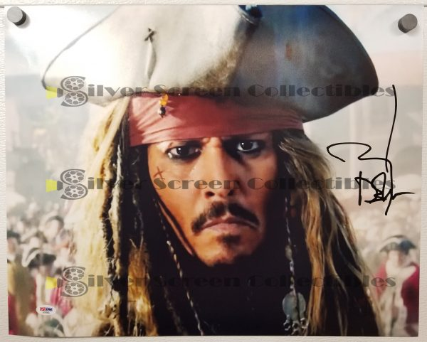 Johnny Depp - Pirates of the Caribbean Signed Photo