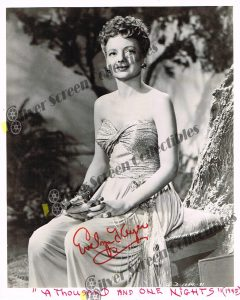 Photo Signed by Evelyn Keyes
