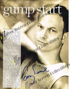"""8.5"""" x 11"""" Magazine page Signed by Gary Sinise"""