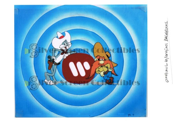 Original Production Animation Cel from the closing credits of Warner Bros Cartoons
