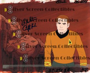 Original Production Art Animation Cel from Star Trek The Animated Series