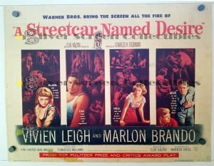 Half Sheet Movie Poster from A Streetcar Named Desire
