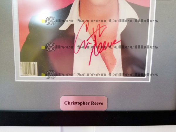 Framed People Magazine Cover Signed by Christopher Reeve