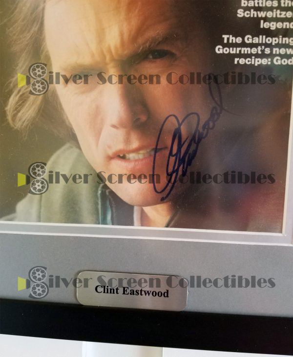 Framed People Magazine Signed by Clint Eastwood