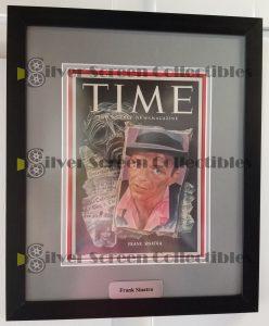Framed Time Magazine Signed by Frank Sinatra
