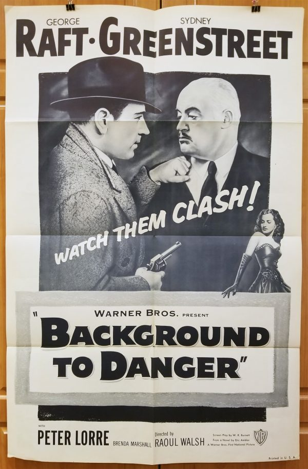 """(27"""" x 41"""")  Original U.S. One Sheet Movie Poster by Background to Danger"""