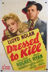 "(27"" x 41"")  Original U.S. One Sheet Movie Poster by Dressed to Kill"