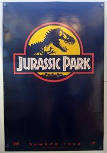 "(27"" x 40"")  Original U.S. One Sheet Movie Poster from Jurassic Park"