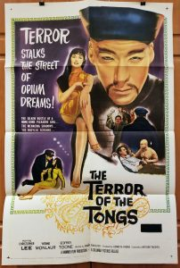 "(27"" x 41"")  Original U.S. One Sheet Movie Poster from Terror of the Tongs"