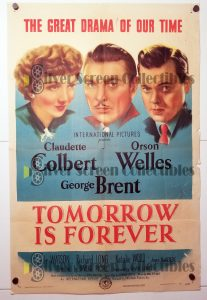 "(27"" x 41"")  Original U.S. One Sheet Movie Poster from Tomorrow is Forever"