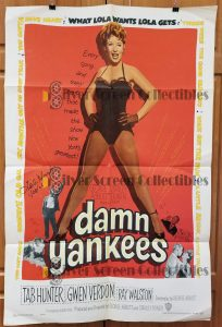 "(27"" x 41"")  Original U.S. One Sheet Movie Poster by Damn Yankees"