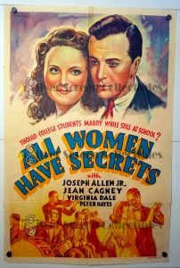 "(27"" x 41"")  Original U.S. One Sheet Movie Poster by All Women Have Secrets"