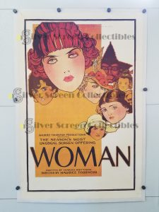 Woman (1918) One Sheet Movie Poster on Linen