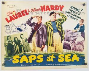 Saps at Sea - Half Sheet Movie Poster