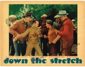 "(11"" x 14"")  Original U.S. Lobby Card from Down the Stretch"