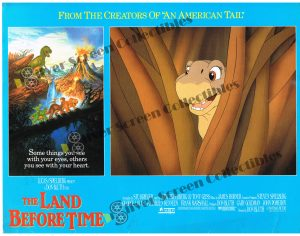 """(11"""" x 14"""")  Original U.S. Lobby Card from Land Before Time"""