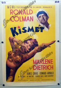 Kismet (1944) One Sheet Movie Poster on Linen
