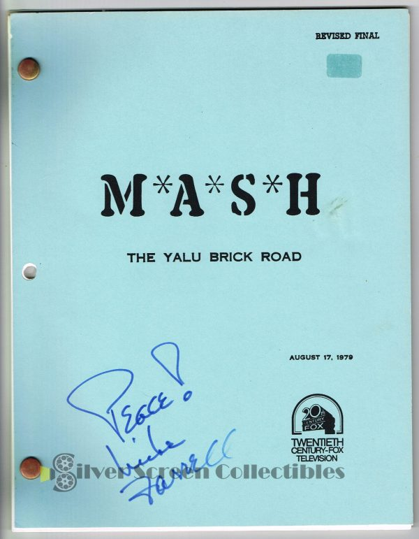 MASH Signed Script